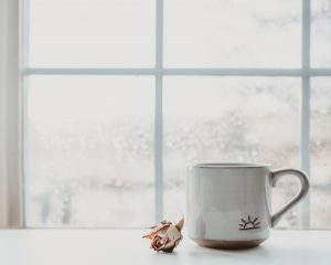 Window and cup